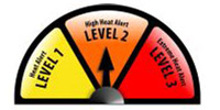 Heat Alert (Level 2) - Orange