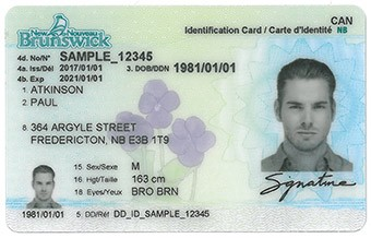 Changes to the New Brunswick driver's licence and photo ID