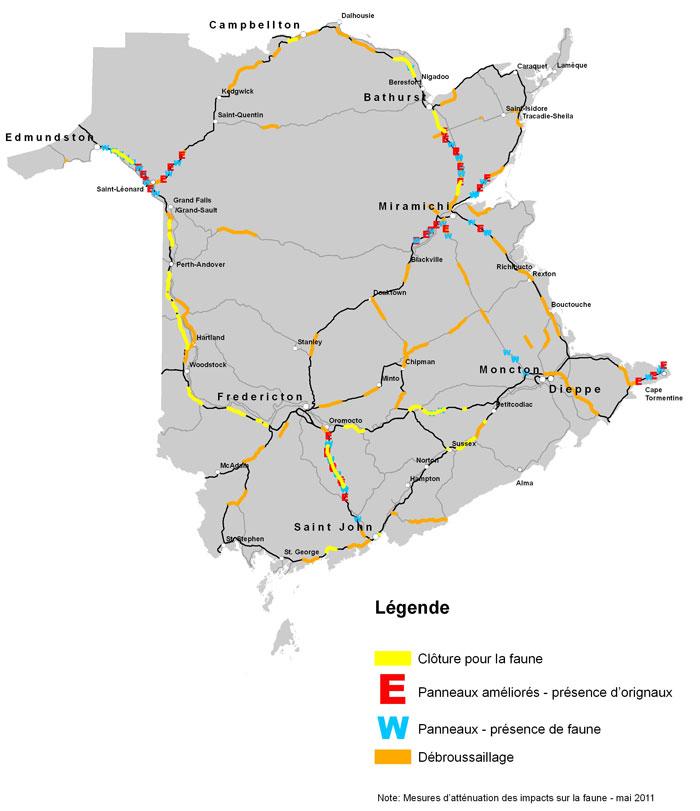 carte routiere quebec nouveau brunswick