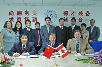 Moncton Flight College, Chinese university sign training contract