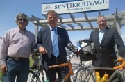 Shippagan celebrates bicycle path that will complement Sentier Rivage boardwalk