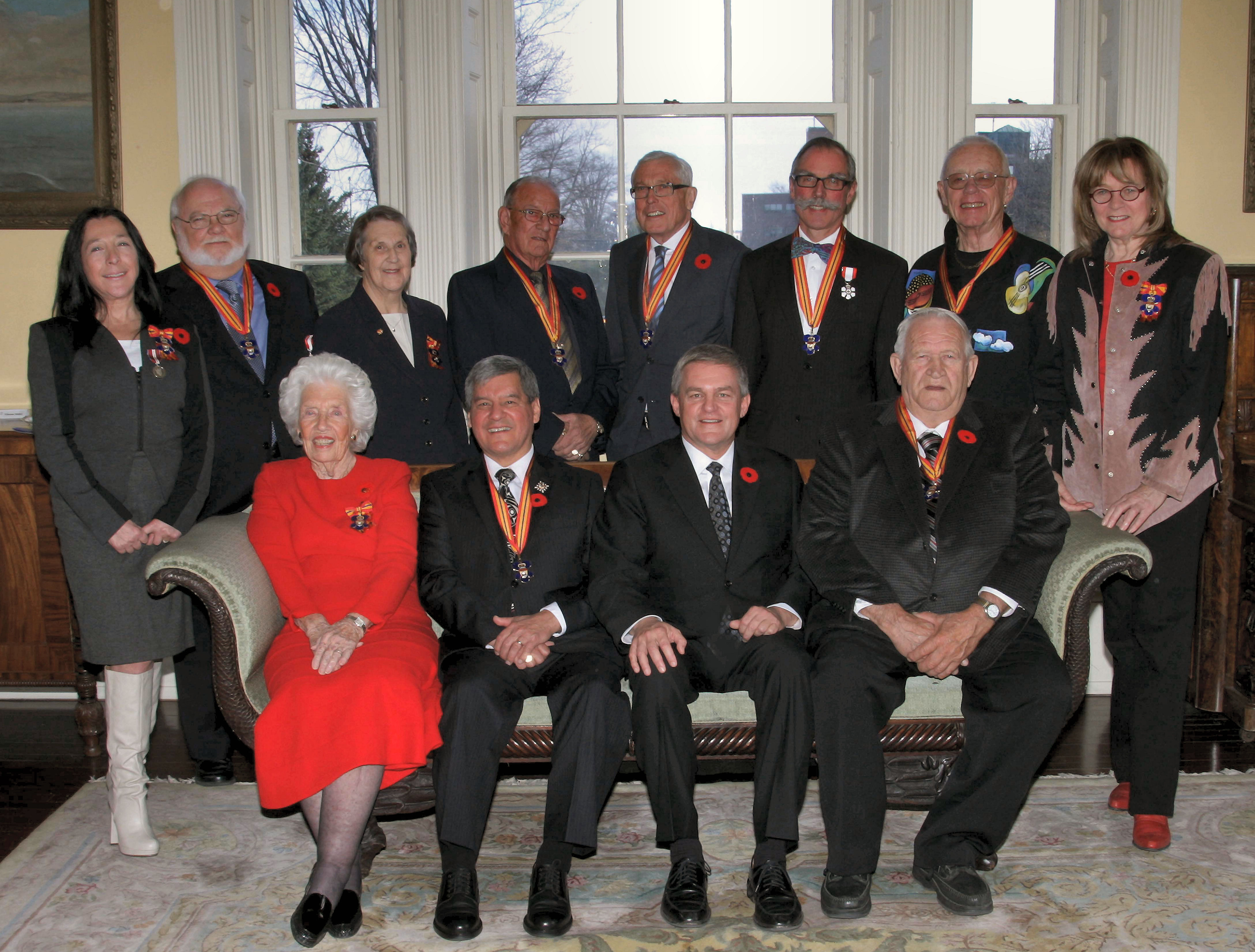 New members invested into the Order of New Brunswick for 2013