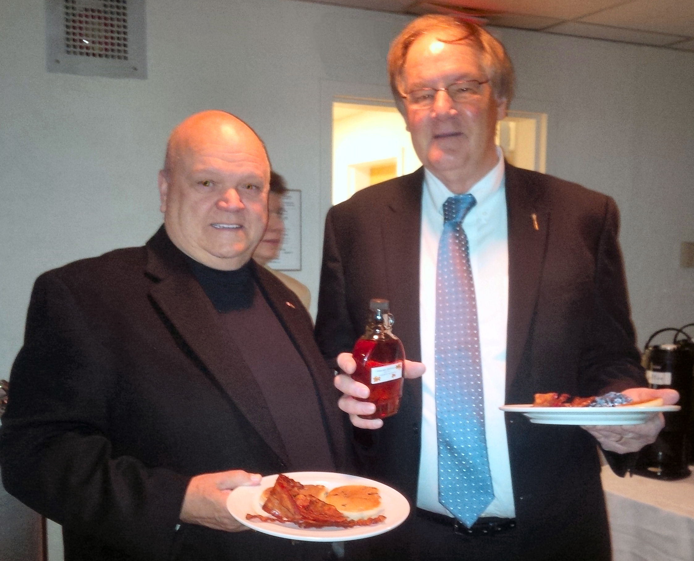 Wild blueberries, maple syrup served at breakfast for MLAs