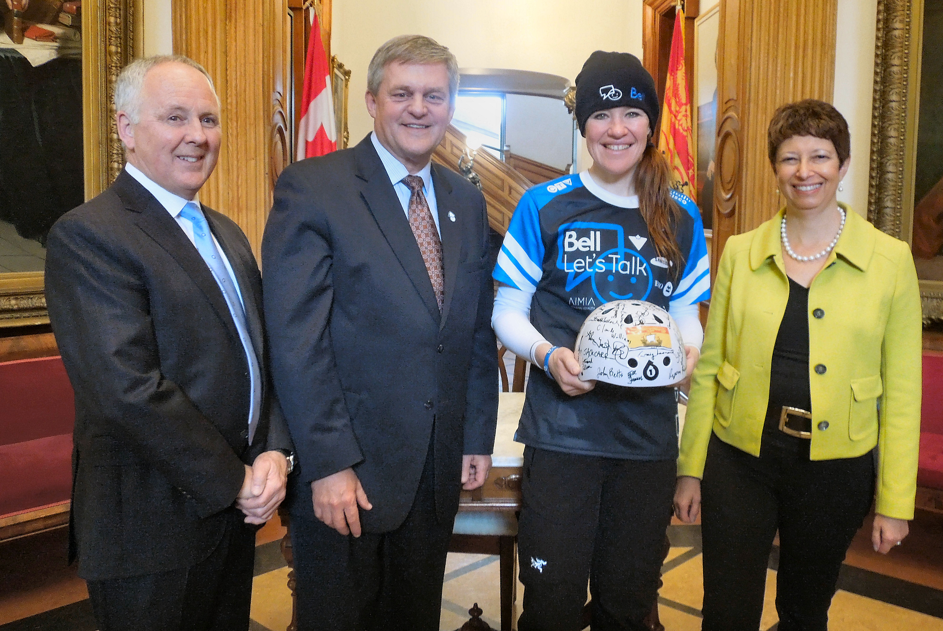 Clara Hughes visits legislative assembly