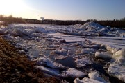 Ice piled up in Doaktown
