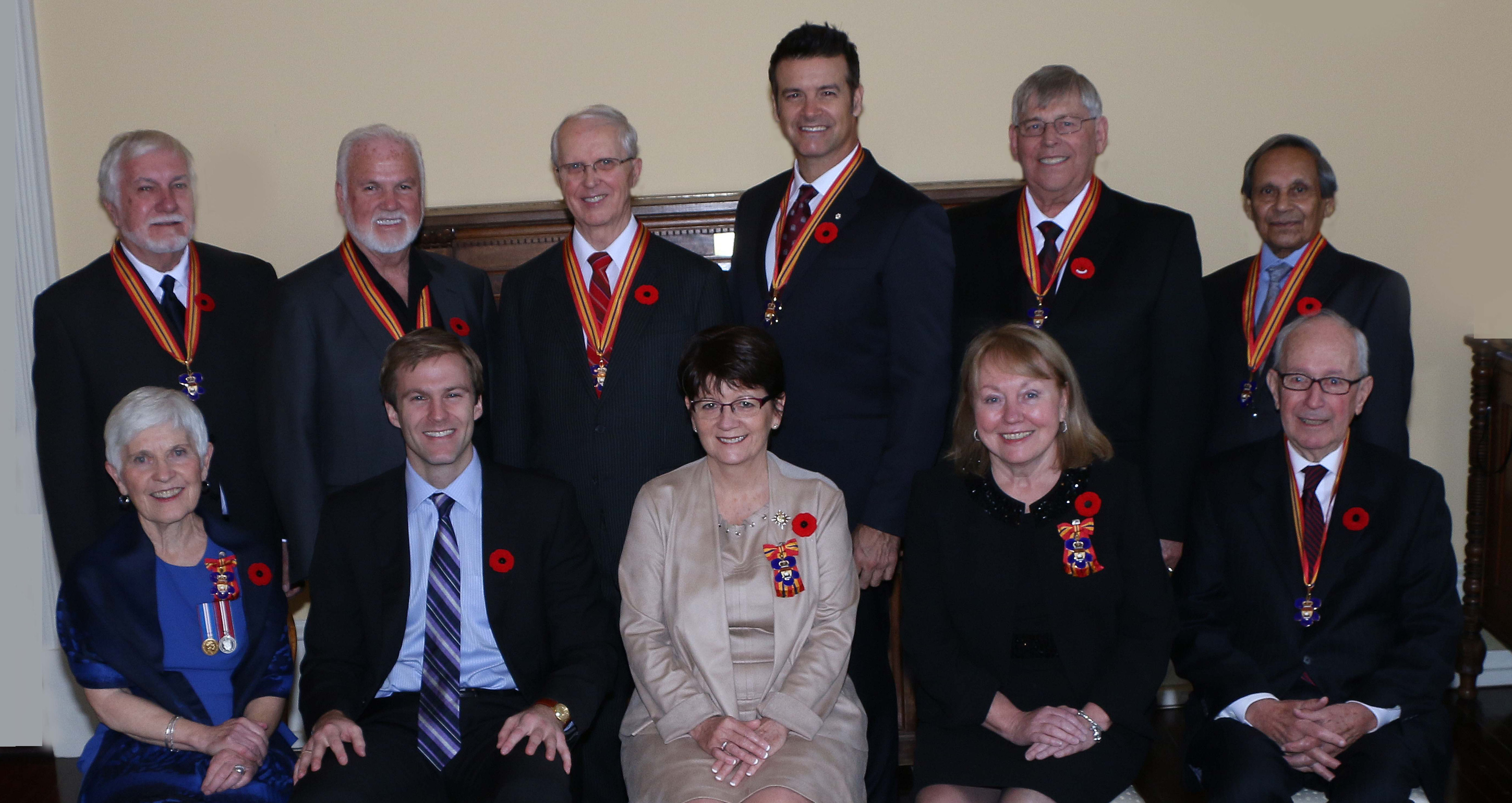 New members invested into the Order of New Brunswick for 2014