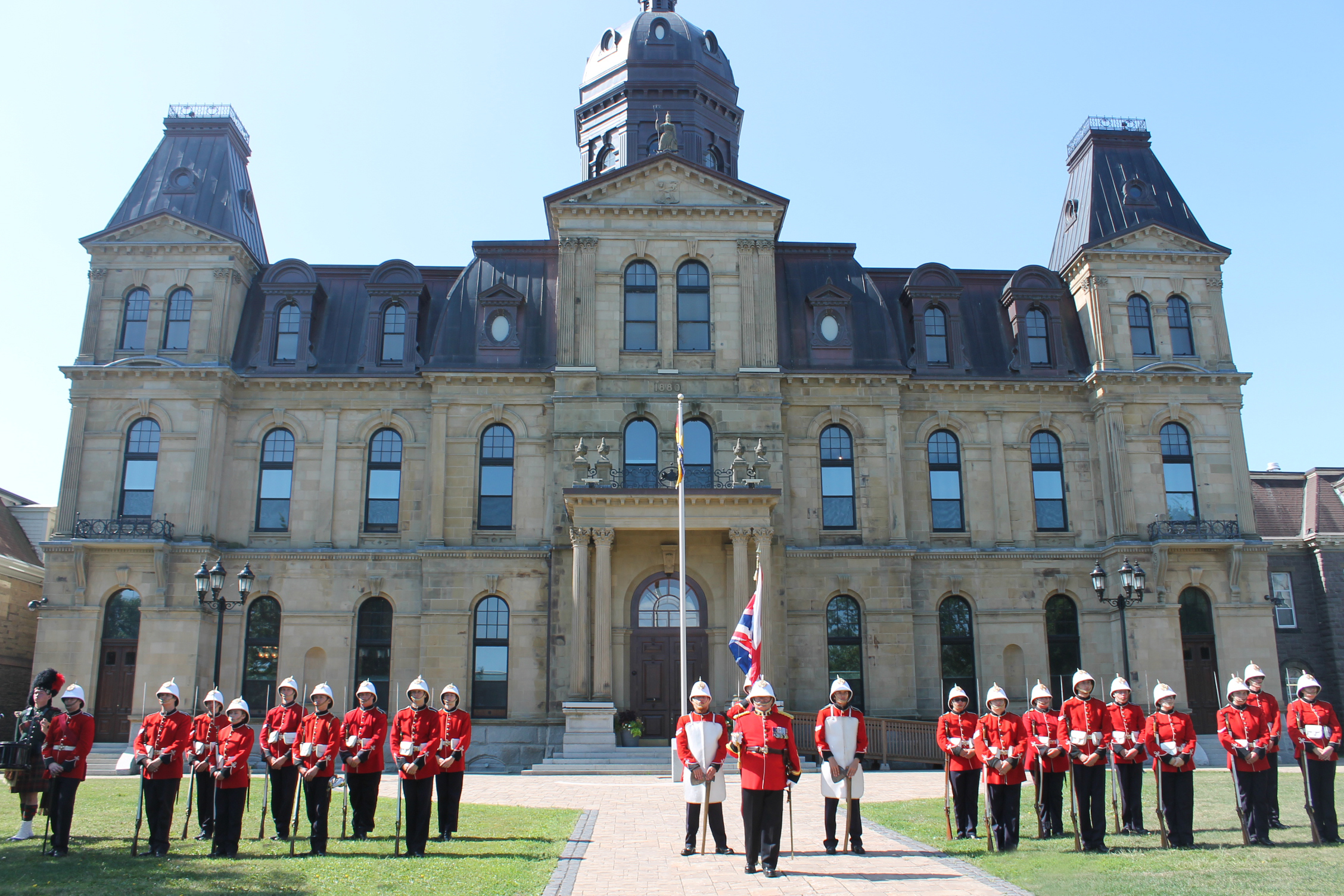 Re-enactment of 1883 Changing of the Guard ceremony