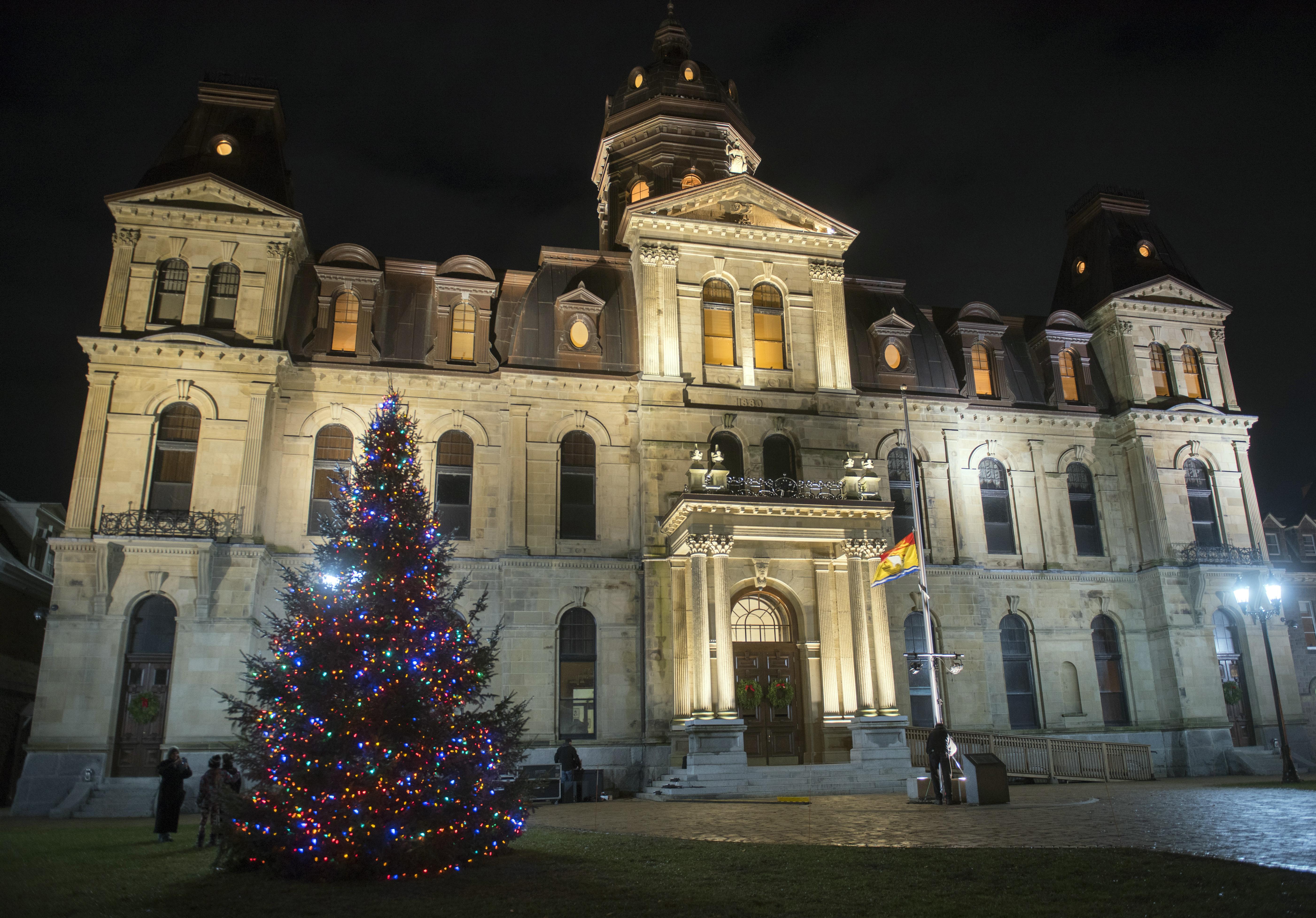 Cérémonie d'illumination de l'arbre de Noël