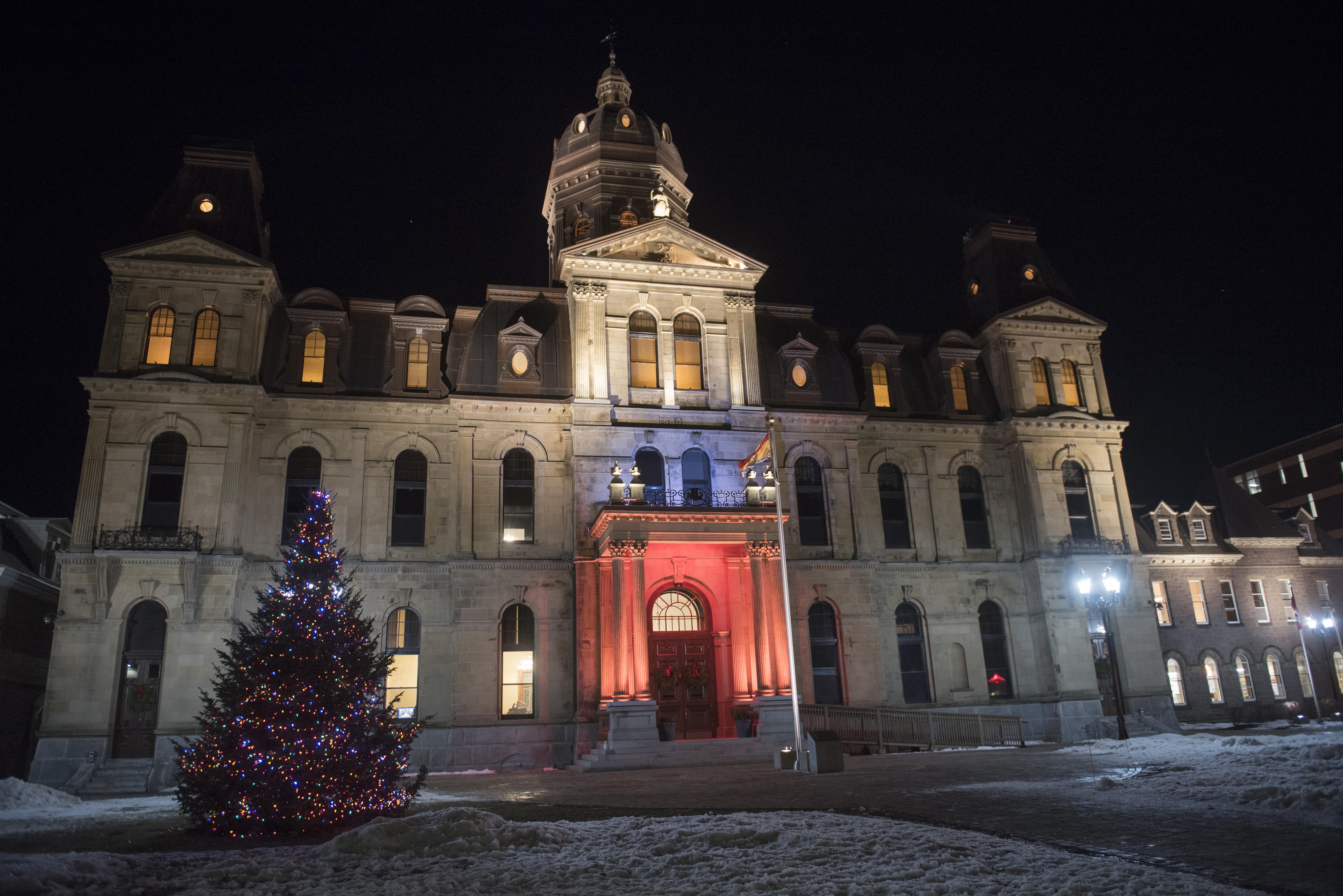 Cérémonie d'illumination de l'arbre de Noël à l'Assemblée législative