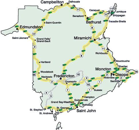 New Brunswick Highway Cameras