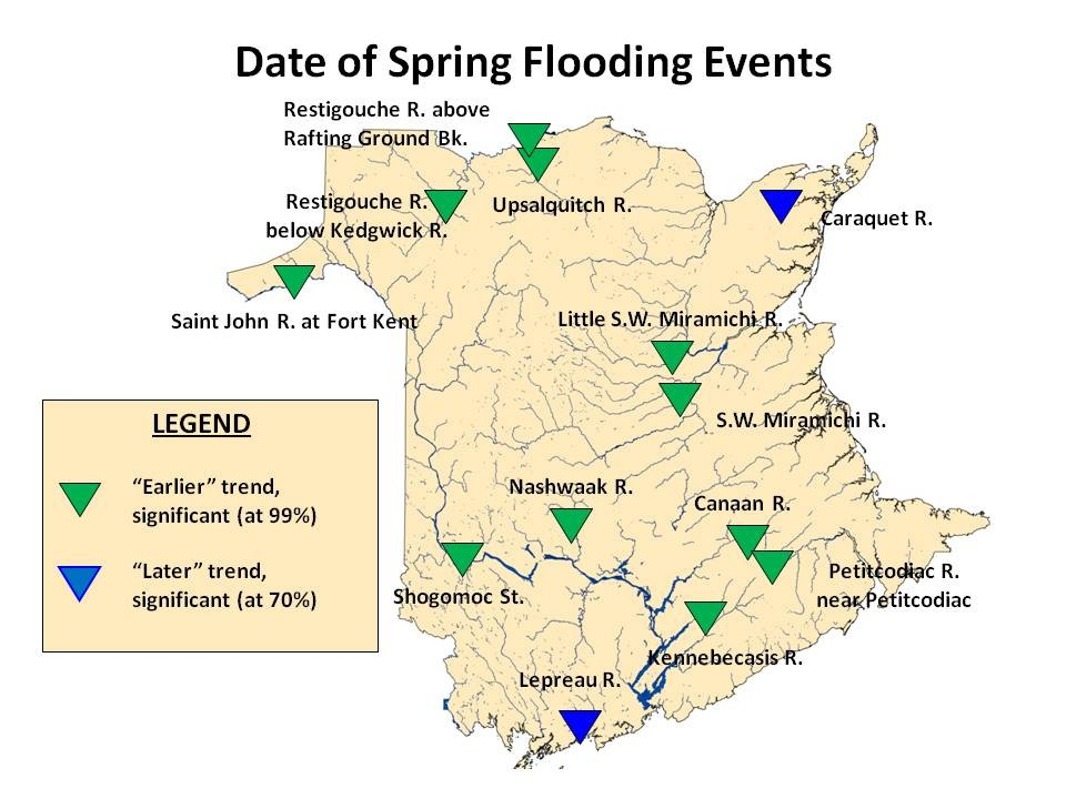 Date of Spring Flooding Events